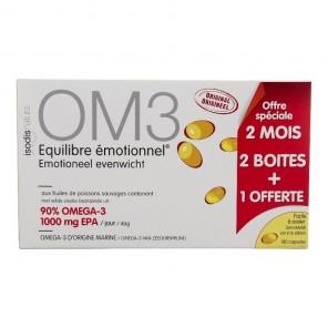 Complément équilibre émotionnel om3 2 boîtes+1 offerte 180 capsules